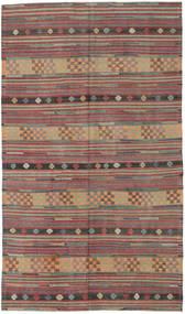Kelim Tyrkiet Tæppe 170X293 Ægte Orientalsk Håndvævet Mørkerød/Mørkegrå (Uld, Tyrkiet)
