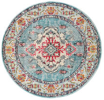 Leia - Turquoise Rug Ø 150 Modern Round Light Grey/Dark Grey ( Turkey)