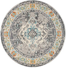 Leia - Grey Rug Ø 150 Modern Round Light Grey/Dark Grey ( Turkey)