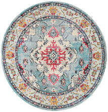 Leia - Turquoise Rug Ø 200 Modern Round Light Grey/Dark Grey ( Turkey)