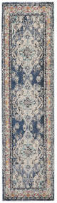 Leia - Blue Rug 80X300 Modern Hallway Runner  Light Grey/Blue ( Turkey)