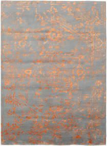 Orient Express - Grey/Orange Rug 210X290 Authentic Modern Handknotted Light Grey/Light Brown (Wool/Bamboo Silk, India)