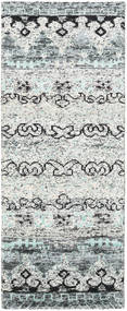 Quito - Grey Rug 80X200 Authentic  Modern Handknotted Hallway Runner  Light Grey/Beige (Silk, India)