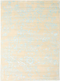 Orient Express - White/Blue Rug 210X290 Authentic  Modern Handknotted Beige/White/Creme (Wool/Bamboo Silk, India)