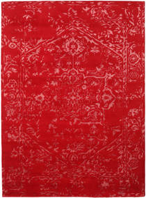 Orient Express - Red Rug 210X290 Authentic  Modern Handknotted Crimson Red/Rust Red (Wool/Bamboo Silk, India)