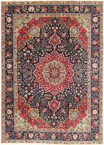Tabriz Rug 212X285 Authentic  Oriental Handknotted Dark Brown/Light Grey (Wool, Persia/Iran)