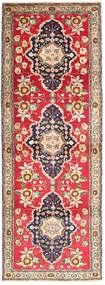 Tabriz Rug 98X293 Authentic  Oriental Handknotted Hallway Runner  Light Brown/Rust Red (Wool, Persia/Iran)
