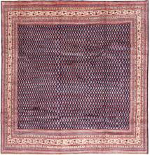 Sarouk Mir Rug 270X279 Authentic  Oriental Handknotted Dark Purple/Light Pink Large (Wool, Persia/Iran)