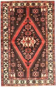 Hamadan Matto 130X210 Itämainen Käsinsolmittu Tummanpunainen/Punainen (Villa, Persia/Iran)