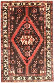 Hamadan Rug 130X210 Authentic  Oriental Handknotted Dark Red/Dark Brown (Wool, Persia/Iran)