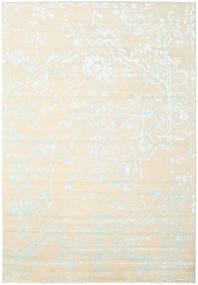 Orient Express - Bianco/Blu Tappeto 240X340 Moderno Fatto A Mano Beige/Bianco/Creme (Lana/Seta Di Bambù, India)