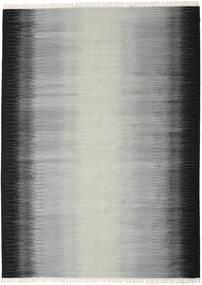 Ikat - Svart / Grå teppe CVD17485