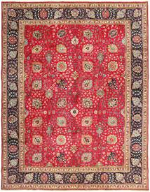Tabriz Rug 295X375 Authentic  Oriental Handknotted Light Brown/Crimson Red Large (Wool, Persia/Iran)