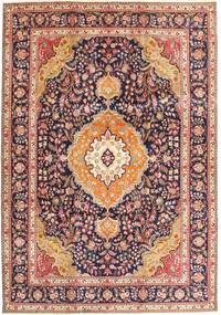 Tabriz Rug 242X343 Authentic  Oriental Handknotted Dark Red/Dark Brown (Wool, Persia/Iran)