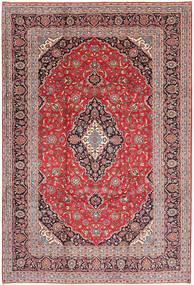 Keshan Matta 243X355 Äkta Orientalisk Handknuten Mörkröd/Ljusrosa (Ull, Persien/Iran)