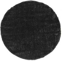 Lotus - Ciemnoszary Dywan Ø 200 Nowoczesny Okrągły Czarny ( Turcja)