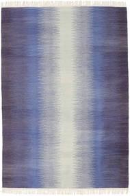 Ikat - Oscuro Azul Alfombra 140X200 Moderna Tejida A Mano Violeta/Violeta Claro (Lana, India)