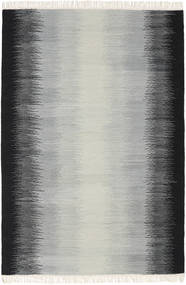 Ikat - Black/Grey Rug 140X200 Authentic  Modern Handwoven Light Grey/Dark Grey (Wool, India)