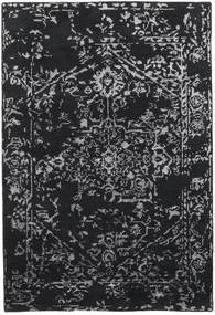 Orient Express - Black Rug 140X200 Authentic  Modern Handknotted Black/Dark Grey (Wool/Bamboo Silk, India)