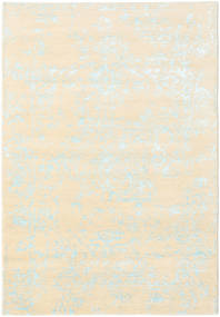 Orient Express - White/Blue Rug 140X200 Authentic  Modern Handknotted Beige/Yellow (Wool/Bamboo Silk, India)