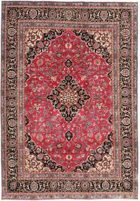 Mashad Patina Teppe 195X278 Ekte Orientalsk Håndknyttet Rust/Mørk Brun (Ull, Persia/Iran)