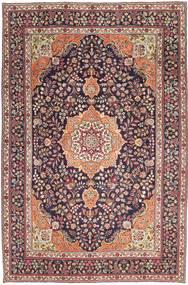 Tabriz Patina Szőnyeg 224X340 Keleti Csomózású Világosbarna/Sötétlila (Gyapjú, Perzsia/Irán)