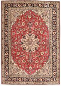 Tabriz Patina Matto 200X287 Itämainen Käsinsolmittu Vaaleanruskea/Vaaleanpunainen (Villa, Persia/Iran)