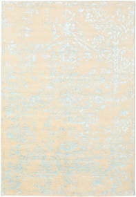 Orient Express - White/Blue Rug 160X230 Authentic  Modern Handknotted Beige/White/Creme (Wool/Bamboo Silk, India)