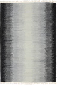 Ikat - Black/Grey Rug 160X230 Authentic  Modern Handwoven Light Grey/Black (Wool, India)