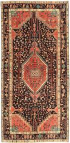 Hamadan Patina Rug 157X334 Authentic  Oriental Handknotted Hallway Runner  Dark Red/Light Brown (Wool, Persia/Iran)