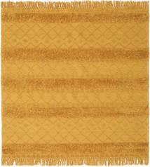 キリム Berber Ibiza - マスタード 絨毯 200X200 モダン 手織り 正方形 薄茶色/オレンジ (ウール, インド)