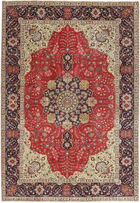Tabriz Patina Vloerkleed 203X290 Echt Oosters Handgeknoopt Donkerrood/Lichtbruin (Wol, Perzië/Iran)