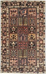Bakhtiar Patina Tæppe 115X198 Ægte Orientalsk Håndknyttet Mørkerød/Lysebrun (Uld, Persien/Iran)
