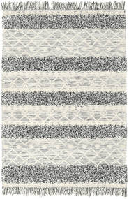 Kilim Berber Ibiza - Black And White Mix Rug 140X200 Authentic  Modern Handwoven Beige/Light Grey (Wool, India)