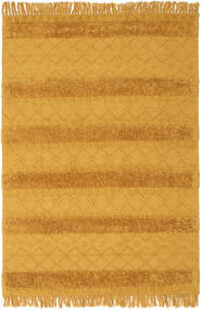 Kilim Berber Ibiza - Mustard Yellow Rug 160X230 Authentic  Modern Handwoven Orange/Light Brown (Wool, India)