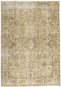 Colored Vintage Rug 200X288 Authentic  Modern Handknotted Light Brown/Olive Green (Wool, Persia/Iran)