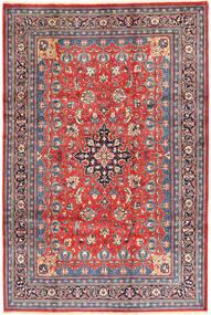 Sarough Matto 215X320 Itämainen Käsinsolmittu Pinkki/Vaaleanruskea (Villa, Persia/Iran)