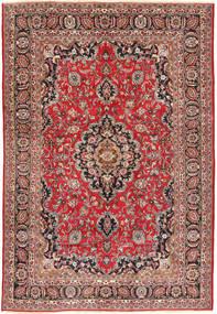 Mashad Teppe 192X282 Ekte Orientalsk Håndknyttet Lysbrun/Brun (Ull, Persia/Iran)