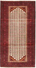 Baloutche Tapis 100X192 D'orient Fait Main Rouge Foncé/Marron Clair (Laine, Perse/Iran)