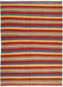 Kilim Rug 176X240 Authentic  Modern Handwoven Light Brown/Dark Red (Wool, Persia/Iran)