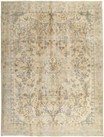 Colored Vintage Tæppe 277X380 Ægte Moderne Håndknyttet Kvadratisk Mørk Beige/Lysebrun/Beige Stort (Uld, Persien/Iran)