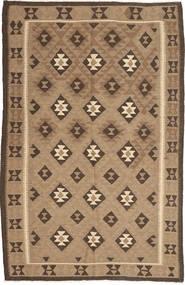 Kelim Matto 159X245 Moderni Käsinkudottu Vaaleanruskea/Tummanruskea (Villa, Persia/Iran)