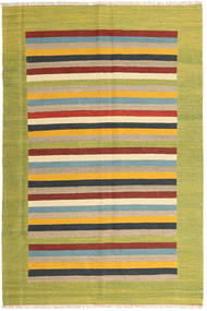 Kilim Rug 166X250 Authentic  Modern Handwoven Olive Green/Yellow (Wool, Persia/Iran)