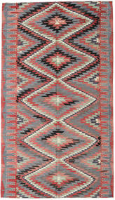 Kilim Turkish Rug 185X323 Authentic  Oriental Handwoven Rust Red/Dark Grey (Wool, Turkey)