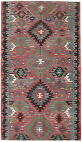 Kilim Turkish Rug 166X290 Authentic  Oriental Handwoven Dark Green/Brown (Wool, Turkey)