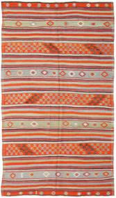 Kilim Turquia Tapete 157X277 Oriental Tecidos À Mão Castanho Alaranjado/Cinzento Claro (Lã, Turquia)