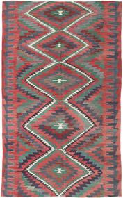 Kelim Türkei Teppich  192X298 Echter Orientalischer Handgewebter Dunkelgrau/Rost/Rot (Wolle, Türkei)