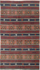Kilim Turkish Rug 175X308 Authentic  Oriental Handwoven Dark Red/Dark Grey (Wool, Turkey)