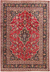 Mashad Rug 198X290 Authentic  Oriental Handknotted Dark Red/Dark Brown (Wool, Persia/Iran)