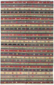 Kilim Turkish Rug 176X278 Authentic  Oriental Handwoven Dark Grey/Light Green (Wool, Turkey)
